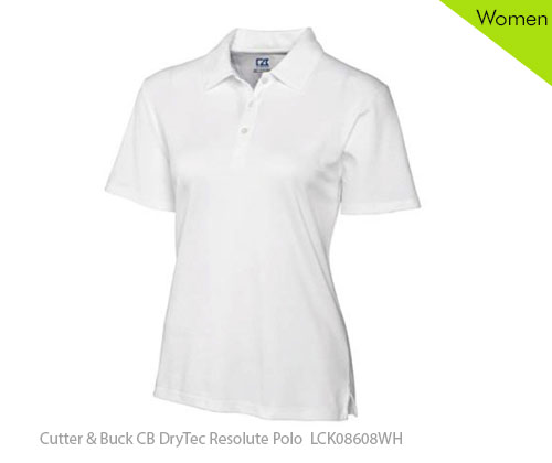 NDPAC Cutter & Buck CB DryTec Resolute Polo LCK08608WH Woman Polo Shirt for sale